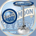 Trademark Global® 28in. Solid Wood/Chrome Pub Table, Blue, Blue Moon