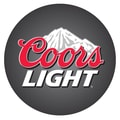 Trademark Global® Vinyl Padded Swivel Bar Stool, Black, Coors Light Logo