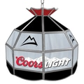 Trademark Global® 16in. Stained Glass Tiffany Lamp, Coors Light