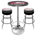 Trademark Global® Ultimate 2 Bar Stools and Table Gameroom Combo, Black, Coors Light®
