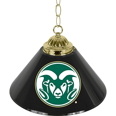 Trademark Global® 14in. Single Shade Bar Lamp, Black, Colorado State University™ NCAA