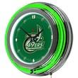 Trademark Global® Chrome Double Ring Analog Neon Wall Clock, University of North Carolina Charlotte
