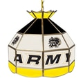 Trademark Global® 16in. Stained Glass Tiffany Lamp, Army Black Knights NCAA
