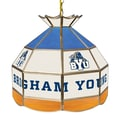 Trademark Global® 16in. Stained Glass Tiffany Lamp, Brigham Young™ NCAA