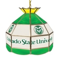 Trademark Global® 16in. Stained Glass Tiffany Lamp, Colorado State University NCAA