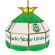 """Trademark Global® 16"""" Stained Glass Tiffany Lamp, Colorado State University NCAA"""