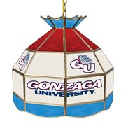 "Trademark Global® 16"" Stained Glass Tiffany Lamp, Gonzaga University NCAA"
