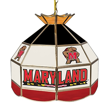 Trademark Global® 16in. Stained Glass Tiffany Lamp, Maryland University NCAA