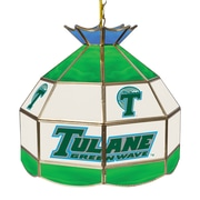 "Trademark Global® 16"" Stained Glass Tiffany Lamp, Tulane University NCAA"
