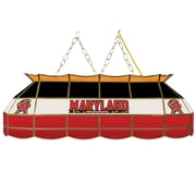 "Trademark Global® 40"" Stained Glass Tiffany Lamp, Maryland University™ NCAA"