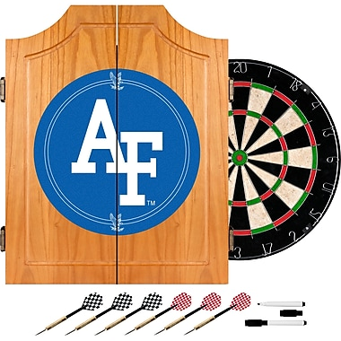 Trademark Global® Solid Pine Dart Cabinet Set, NCAA Air Force Falcons
