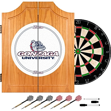 Trademark Global® Solid Pine Dart Cabinet Set, NCAA Gonzaga University