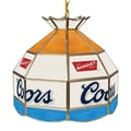 Trademark Global® 16in. Stained Glass Tiffany Lamp, Coors Banquet