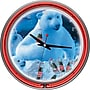 Trademark Global® Chrome Double Ring Polar Bears With