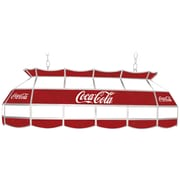"""Trademark Global® 40"""" Stained Glass Vintage Tiffany Lamp, Coca Cola® Script Red/White v1 Vintage"""