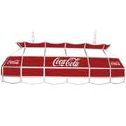 """Trademark Global® 40"""" Stained Glass Vintage Tiffany Lamp, Coca Cola® Script Red/White v2 Vintage"""
