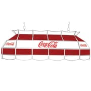 """Trademark Global® 40"""" Stained Glass Vintage Tiffany Lamp, Coca Cola® Red/White Vintage"""