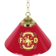 "Trademark Global® 14"" Single Shade Bar Lamp, Red, Fire Fighter"