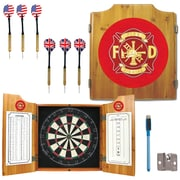 Trademark Global® Solid Pine Dart Cabinet Set, Fire Fighter