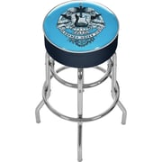 Trademark Global® Vinyl Padded Swivel Bar Stool, Blue, Fender Legends Never Die