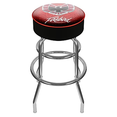 Trademark Global® Vinyl Padded Swivel Bar Stool, Red, Pontiac Firebird