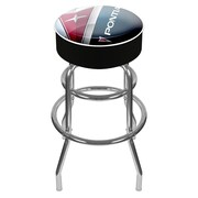 Trademark Global® Vinyl Padded Swivel Bar Stool, Black, Pontiac