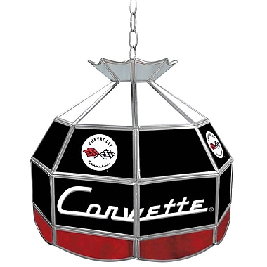 Trademark Global® 16in. Stained Glass Tiffany Lamp, Corvette C1