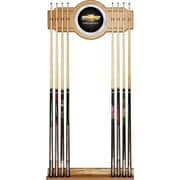 Trademark Global® 2 Piece Wood and Glass Billiard Cue Rack With Mirror, Chevrolet