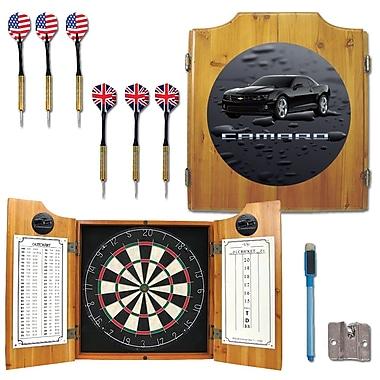 Trademark Global® Solid Pine Dart Cabinet Set, Chevrolet Black Camaro