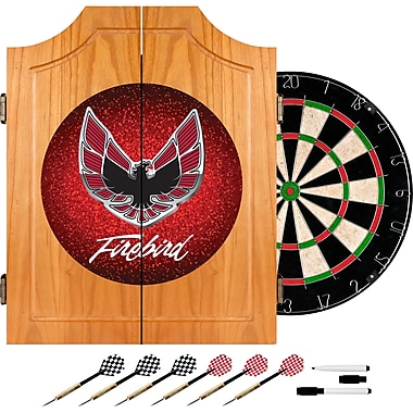 Trademark Global® Solid Pine Dart Cabinet Set, Pontiac Firebird Red