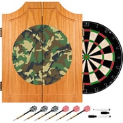 Trademark Global® Solid Pine Dart Cabinet Set, Hunt Camo
