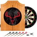 Trademark Global® Solid Pine Dart Cabinet Set, Hunt Skull