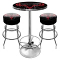 Trademark Global® 2 Bar Stools and Table Gameroom Combo, Hunt Skull