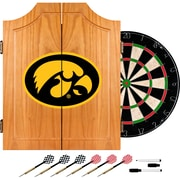 Trademark Global® Solid Pine Dart Cabinet Set, NCAA University of Lowa