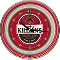 Trademark Global® Chrome Analog Neon Wall Clock, George Killians