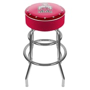 Trademark Global® NCAA® Vinyl Padded Bar Stool, Red, Brutus Ohio State University Logo