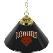 "Trademark Global® 14"" Single Shade Bar Lamp, Black, Brown University™ NCAA"