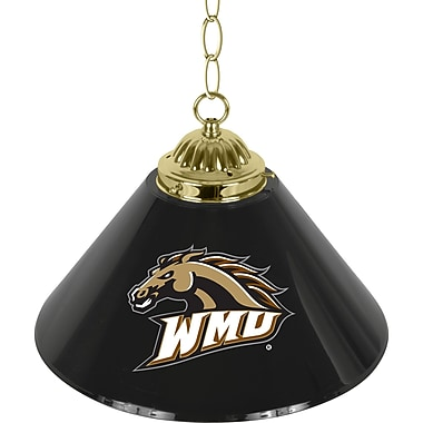 Trademark Global® 14in. Single Shade Bar Lamp, Black, Western Michigan University™ NCAA