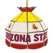 "Trademark Global® 16"" Stained Glass Tiffany Lamp, Arizona State® University NCAA"