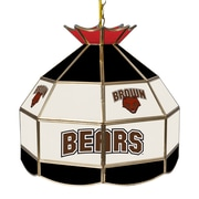 """Trademark Global® 16"""" Stained Glass Tiffany Lamp, Brown University NCAA"""