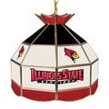 Trademark Global® 16in. Stained Glass Tiffany Lamp, Illinois State U NCAA