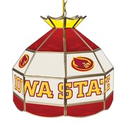 "Trademark Global® 16"" Stained Glass Tiffany Lamp, Iowa State University NCAA"