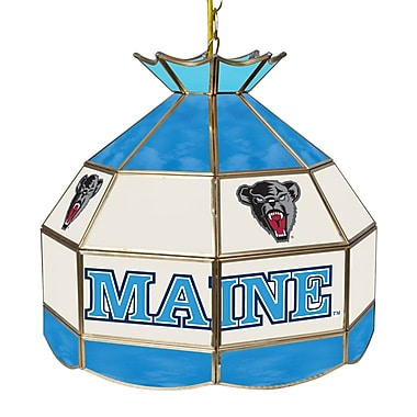 Trademark Global® 16in. Stained Glass Tiffany Lamp, University of Maine NCAA