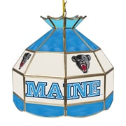 "Trademark Global® 16"" Stained Glass Tiffany Lamp, University of Maine NCAA"