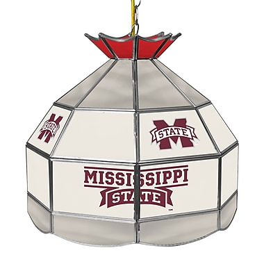 Trademark Global® 16in. Stained Glass Tiffany Lamp, Mississippi State U NCAA