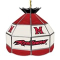 Trademark Global® 16in. Stained Glass Tiffany Lamp, Miami University Ohio NCAA