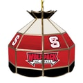 Trademark Global® 16in. Stained Glass Tiffany Lamp, North Carolina State NCAA
