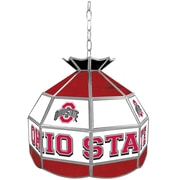 """Trademark Global® 16"""" Stained Glass Tiffany Lamp, The Ohio State NCAA"""
