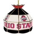 Trademark Global® 16in. Stained Glass Tiffany Lamp, The Ohio State NCAA, Black