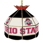 "Trademark Global® 16"" Stained Glass Tiffany Lamp, The Ohio State NCAA, Black"